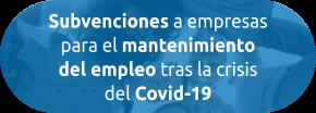 Subvenciones a empresas para el mantenimiento del empleo tras la crisis del Covid-19