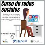 Cartel del curso de redes sociales