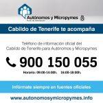 Cartel del servicio telefónico para autónomos y pymes
